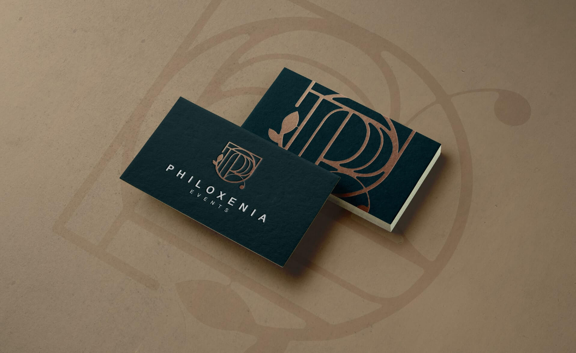 business card design for Philoxenia